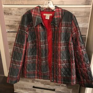 Plaid button up jacket.